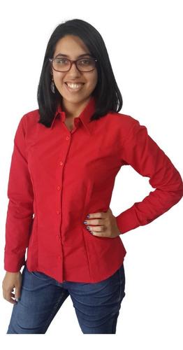 camisa ejecutiva manga larga de dama en microfibra