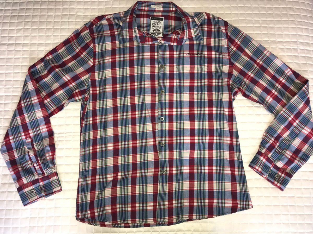 b6282a91c Camisa Ellus Xadrez Original Gg Slim Colcci Gucci - R$ 139,00 em ...
