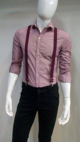 verdadero negocio Super descuento elegir despacho Camisa Tipo Mandarin - Camisas Formal de Hombre Larga Rosa ...
