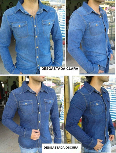 camisa en jean slim fit y normal ata & lug originales promo