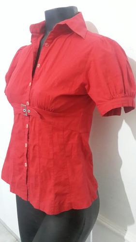 camisa entallada roja pin up rockabilly