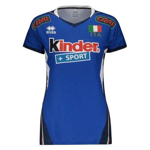 camisa errea itália vôlei home 2017 feminina
