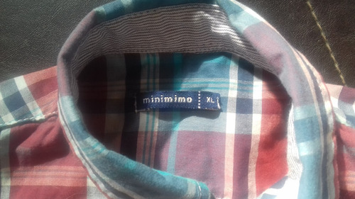 camisa escocesa niño minimimo