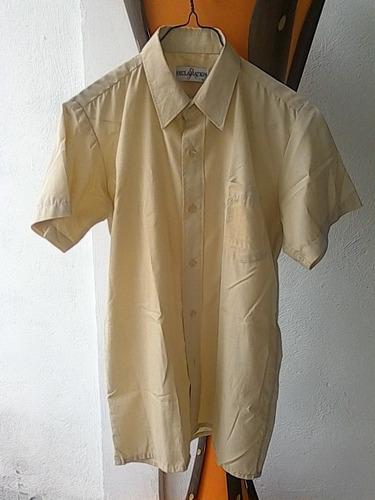 camisa escolar beige exclamation talla 16