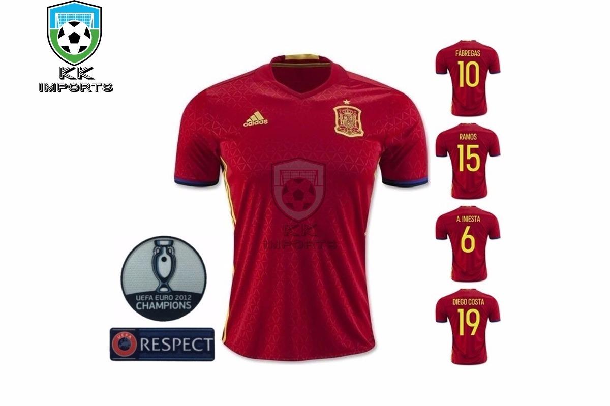 camisa espanha 2016 2017 unif 1 sob encomenda. Carregando zoom. bb38e69cef8a4