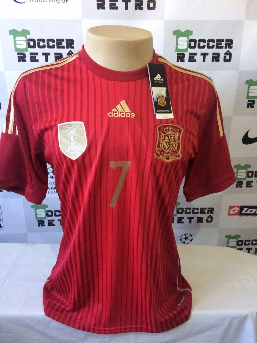 e1496a332a camisa espanha copa do mundo 2014 numero 7. Carregando zoom.