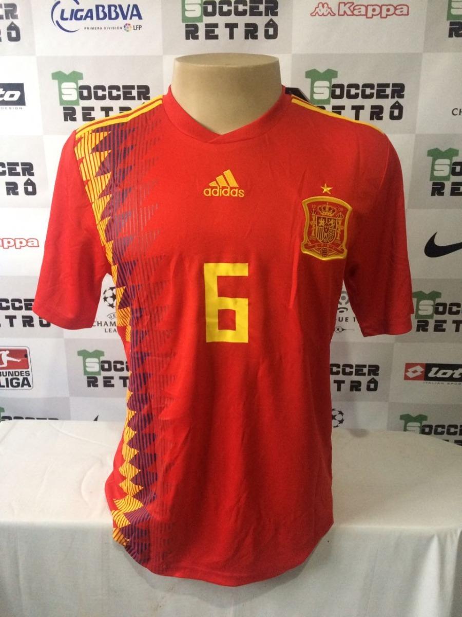 ab265d3e5b18a camisa espanha copa do mundo 2018 iniesta 6. Carregando zoom.