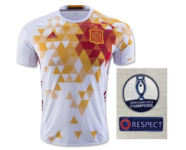 Camisa Espanha Euro 2016 Away - Personalizável - R  129 4bf816e107be7