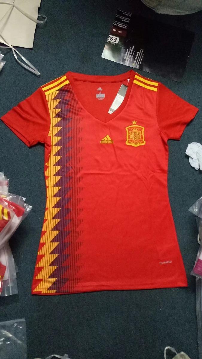 Camisa Espanha Feminina Copa Mundo 2018 Nova - Frete Gratis - R  160 ... 107961b067c98