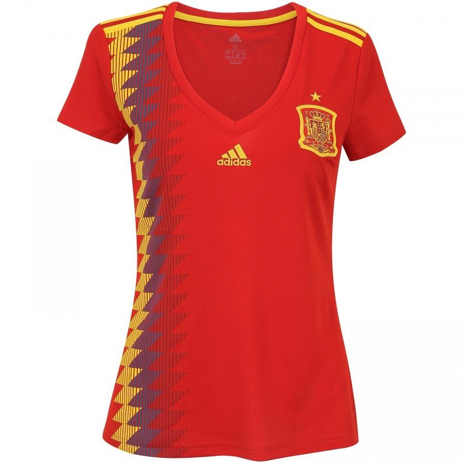 camisa espanha feminina uniforme 1 - 2018 original. Carregando zoom. b6d1603d9ff31