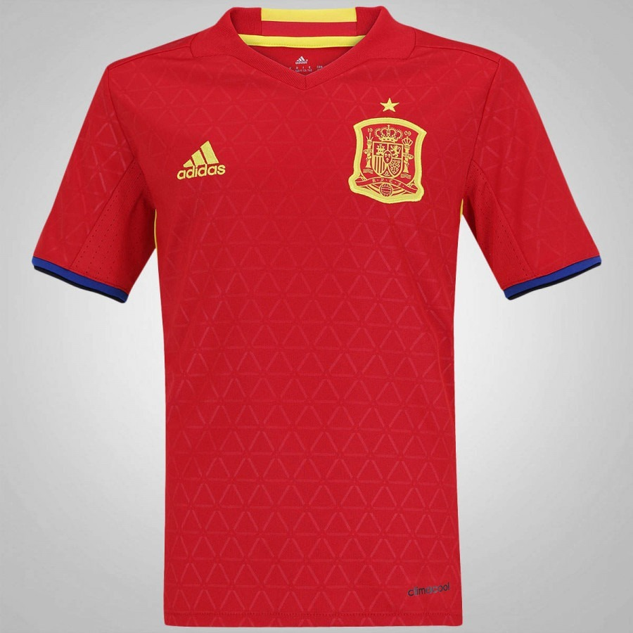 58ad88e94a camisa espanha infantil adidas euro copa 2016 vermelha. Carregando zoom.