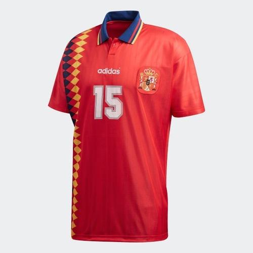 camisa espanha retrô 1994 guardiola #9 - pronta entrega