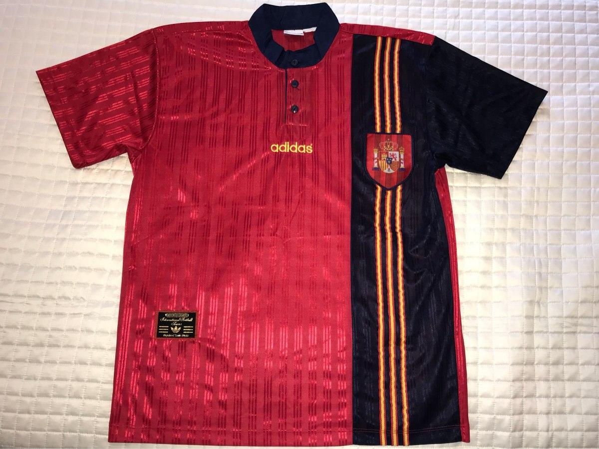 camisa espanha seleção oficial retrô g 1996 barcelona real. Carregando zoom. 678e6b083d354