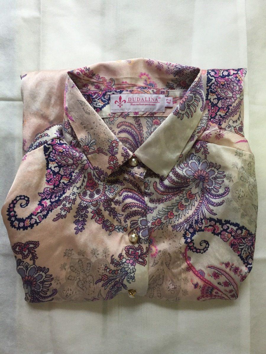 bd50096107 camisa estampada feminina dudalina original tamanho 42. Carregando zoom.