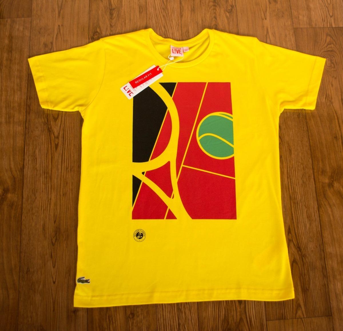 fcb878ae2697c Camisa Estampada Lacoste Live Peruanas Promoção Preço Atacd - R  38 ...