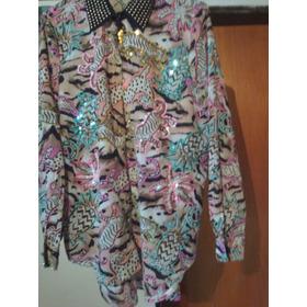 Camisa Estampada Seda