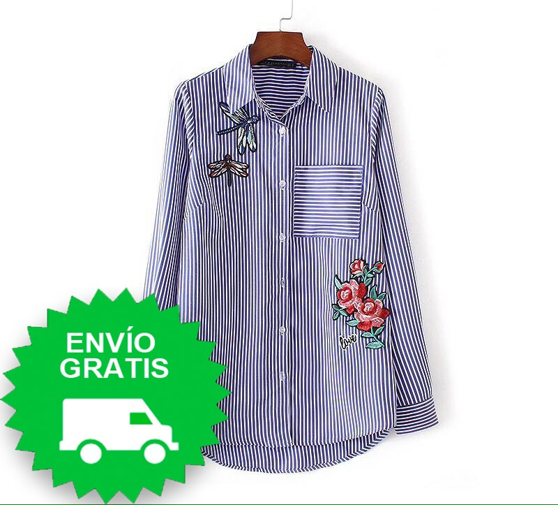 e03082da75 Camisa Estampado Floral A Rayas De Mujer - Algodon -   18.990 en ...