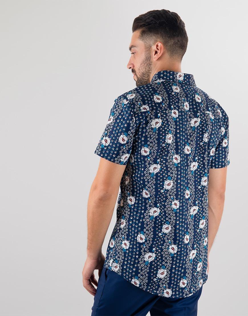 6c735b463a Camisa Estampado Flores Azul -   135.576 en Mercado Libre