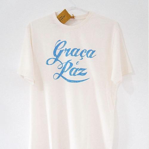 camisa evangelica feminina -graça e paz