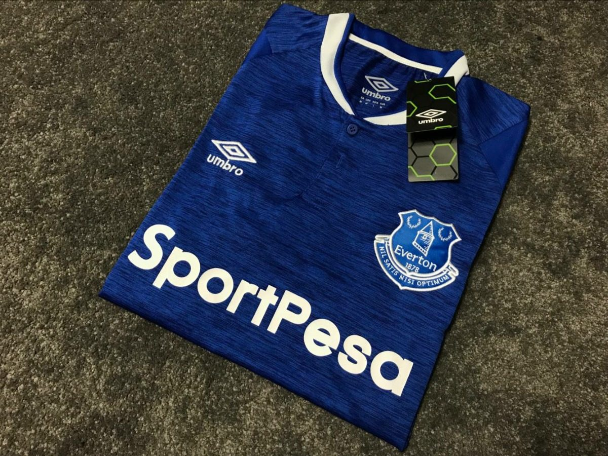 d61449d97735c Camisa Everton (inglaterra) - Home - 2018/2019 - Personaliza - R ...