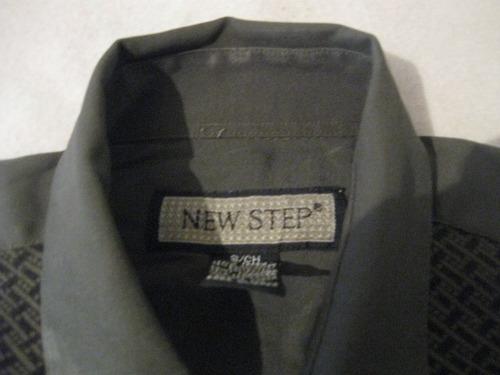 camisa exclusiva new step talla s manga larga