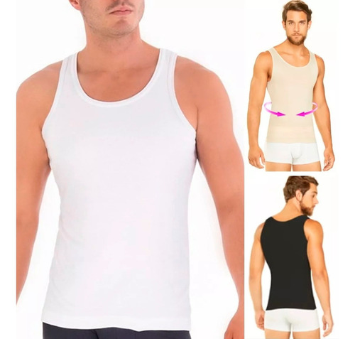camisa faja hombres reductora esqueleto original geordi gym