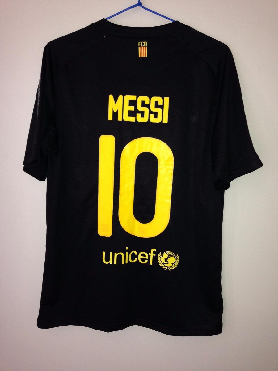 310dc9e31aec2 Camisa Fc Barcelona Temporada 2011- 2012 - Preta - Messi  10 - R  60 ...