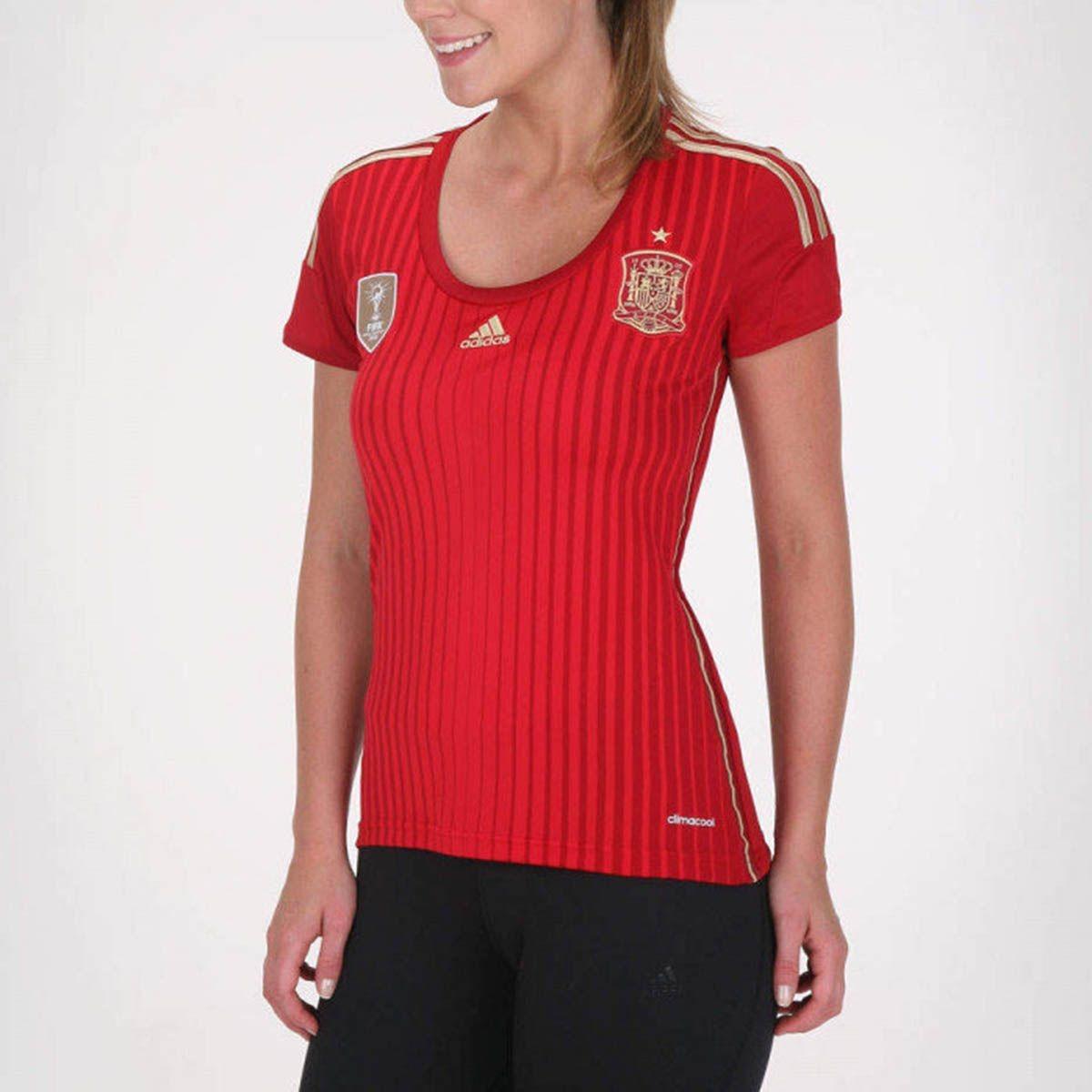 189b87b6cd Camisa Feminina adidas Espanha 2014 S nº Nova Orig C  Tag+nf - R ...