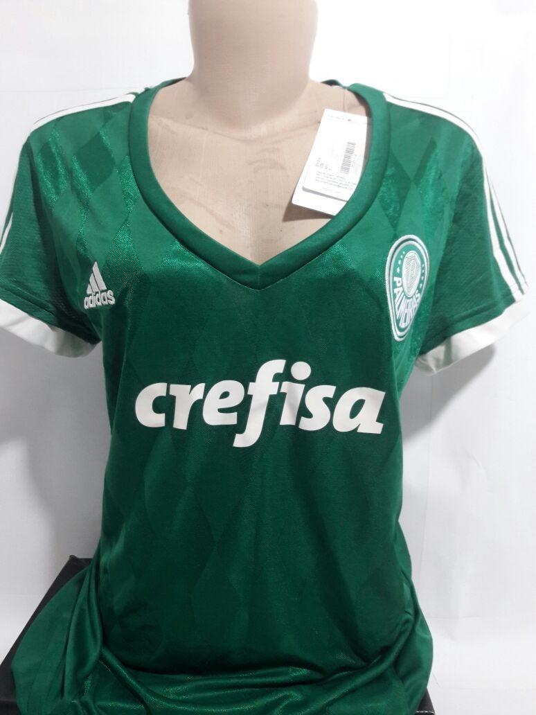 f00e9455d1668 Camisa Feminina adidas Palmeiras I 15 16 S n Tam. G - R  110