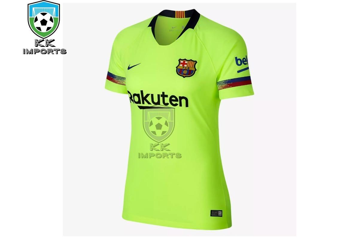 camisa feminina barcelona 2018 2019 uniforme 2. Carregando zoom. 6535f15aff8a0