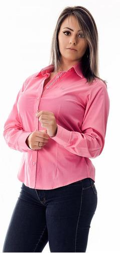 camisa feminina bethany - pimenta rosada