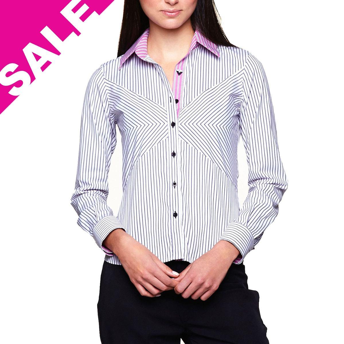 Bolsa Listrada Preta E Branca : Camisa feminina blusa listrada preta branca manga longa