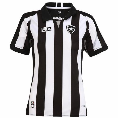 camisa feminina botafogo fila uniforme 1 e 2 listrada/preta