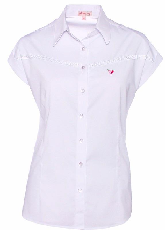 camisa feminina branca manga curta laura - pimenta rosada. Carregando zoom. 16d37e16e4814
