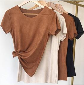 896fd5c57 Camiseta Suede - Calçados, Roupas e Bolsas no Mercado Livre Brasil