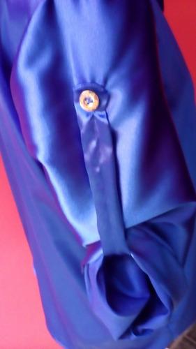 camisa feminina cetim de seda m/3/4 fabricação própria