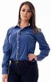 a2a74db46e Camisas Pimenta Rosa - Camisa Social Manga Longa Feminino no Mercado ...