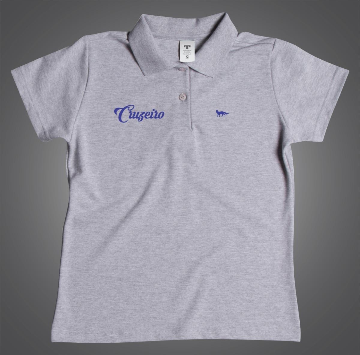 d5b86f8b56 Camisa Feminina Polo Cruzeiro Especial Feminino Azul - R  54