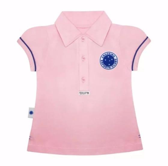9c1f71f72d5bb Camisa Feminina Cruzeiro Rosa Infantil - R  79