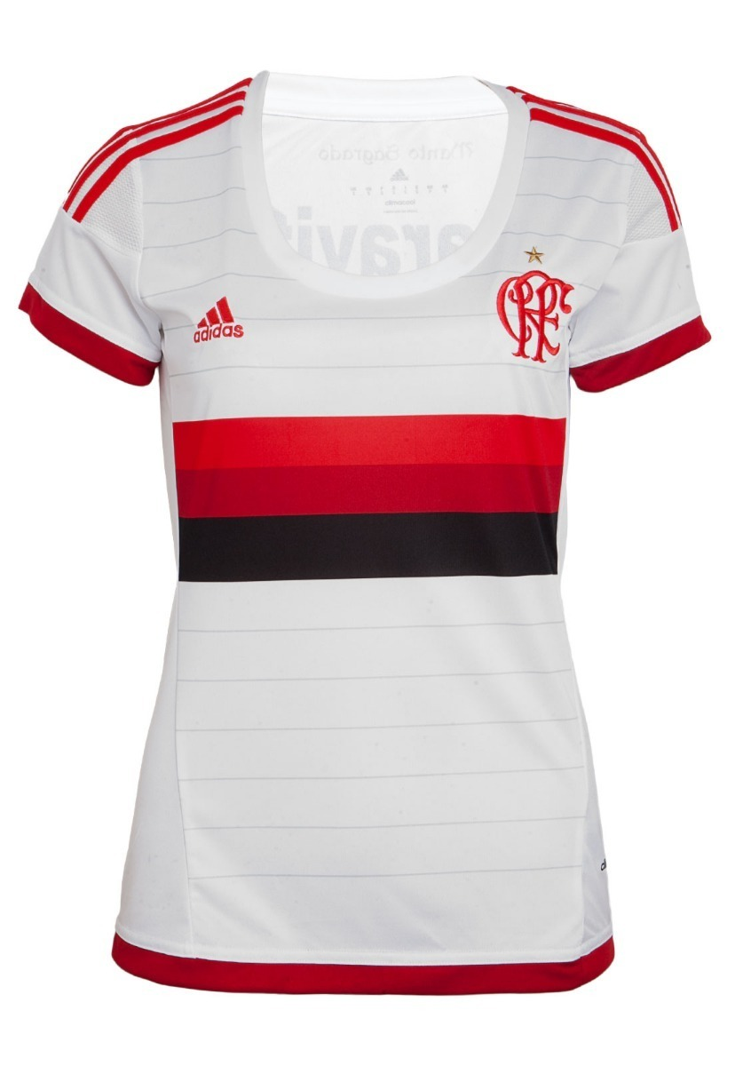 e739ca5f5e895 Camisa Feminina Flamengo adidas Original Branca 2016 - R$ 149,90 em ...