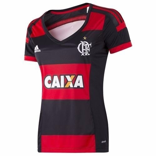 Camisa Feminina Flamengo adidas Original Rubro Negra 2015 - R  99 9567fa0548bdb