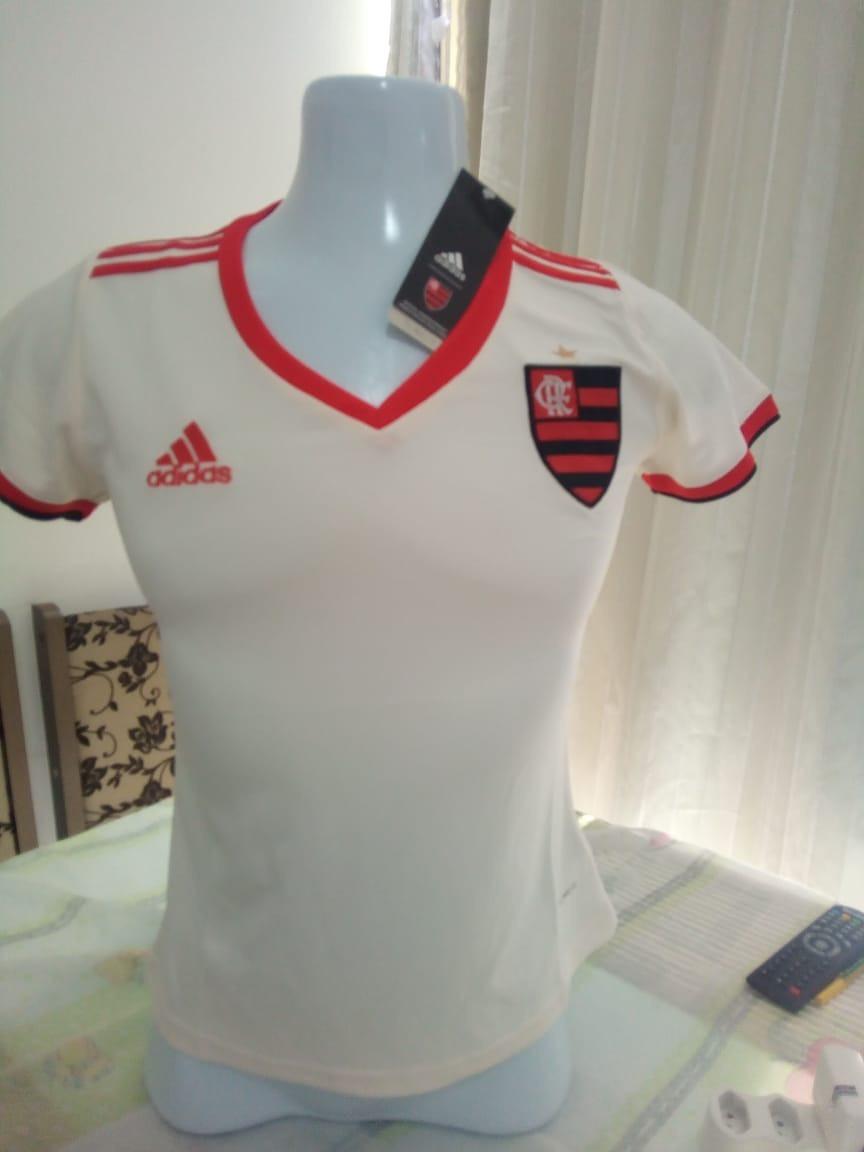 e5b9ca0b8e090 camisa feminina flamengo branca lisa (pronta entrega). Carregando zoom.