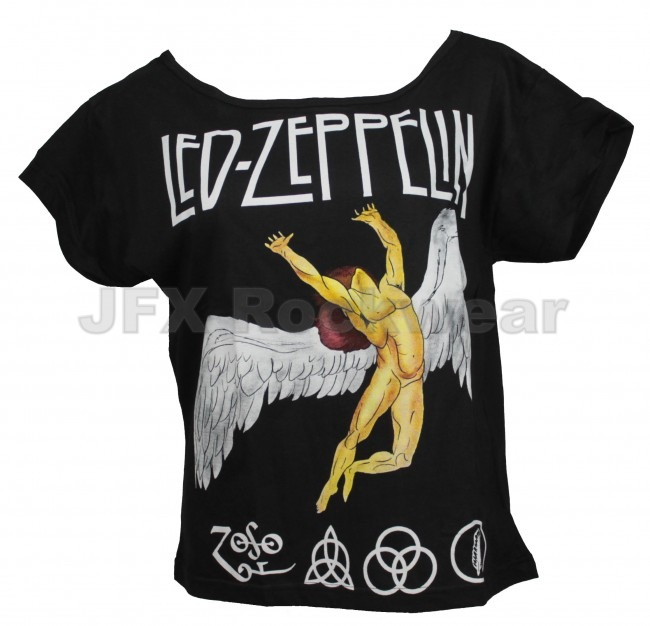 Camisa Feminina Gola Canoa Rock Led Zeppelin Anjo Colorido - R  40 ... 2574daf4581