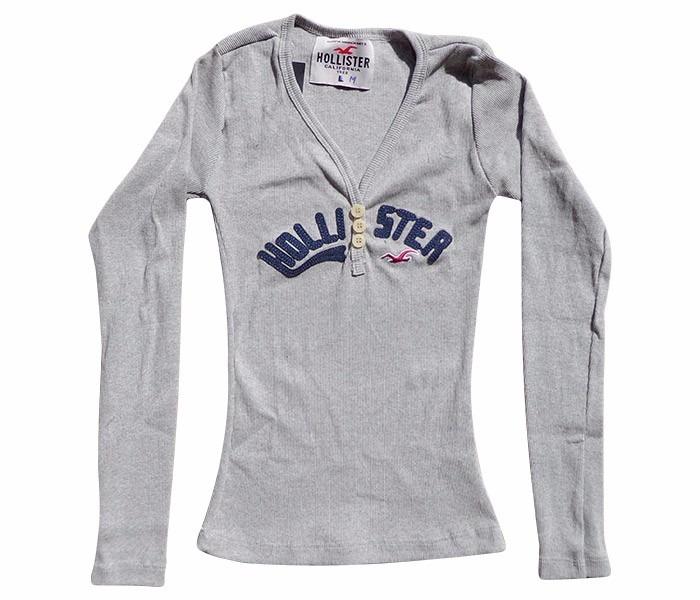 Camisa Feminina Hollister Manga Longa - 8 Modelos - Top!!! - R  59 ... 7581fd3653