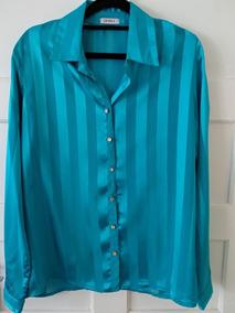 a28b652b1d Camisa De Cetim Verde no Mercado Livre Brasil