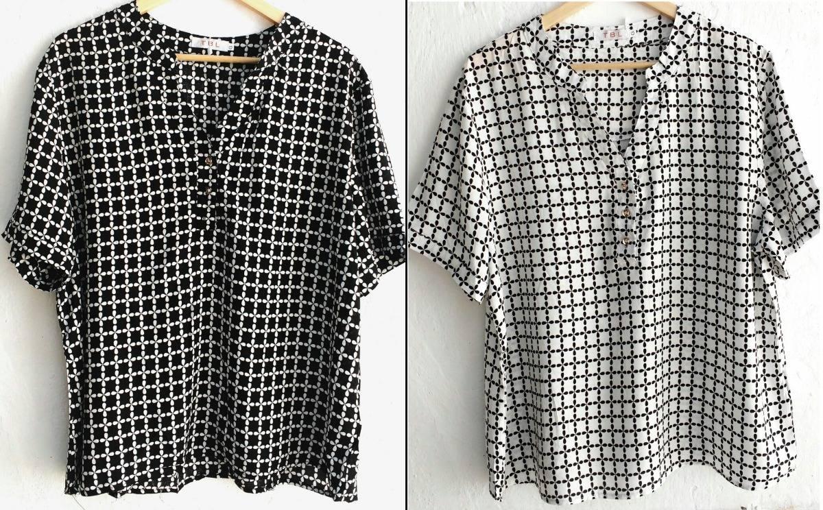 949948788d camisa feminina manga curta viscose plus size - unidade. Carregando zoom.