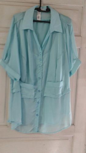 camisa feminina musseline c cetim lindos detalhes