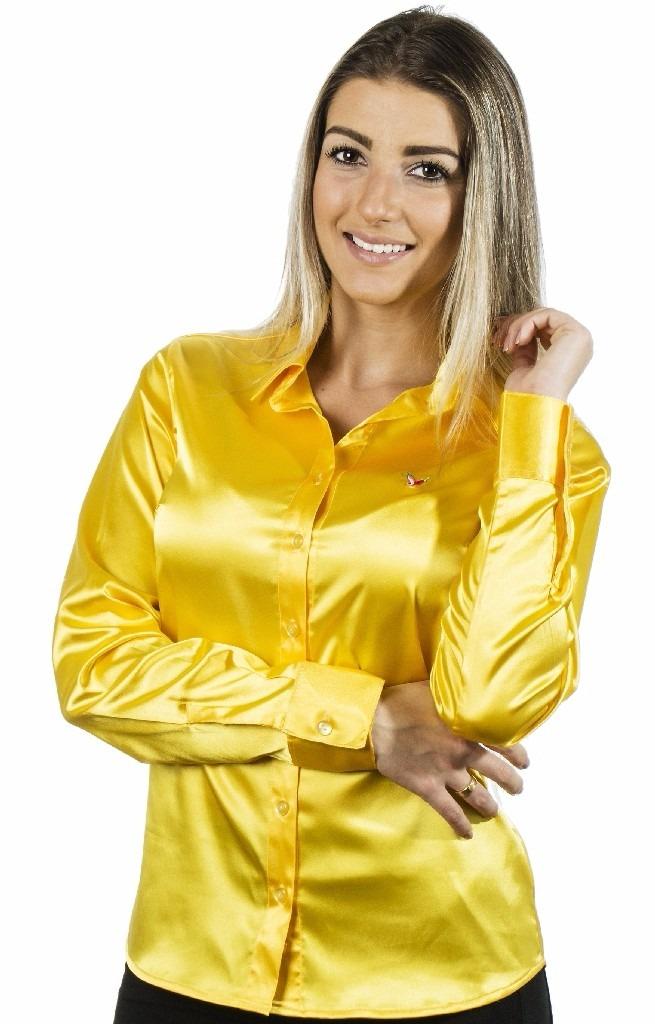 7962544dcf camisa feminina nanette - cetim c  elastano - pimenta rosada. Carregando  zoom.