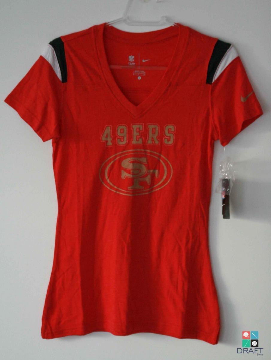e56bf65b35 camisa feminina nfl nike san francisco 49ers draft store. Carregando zoom.