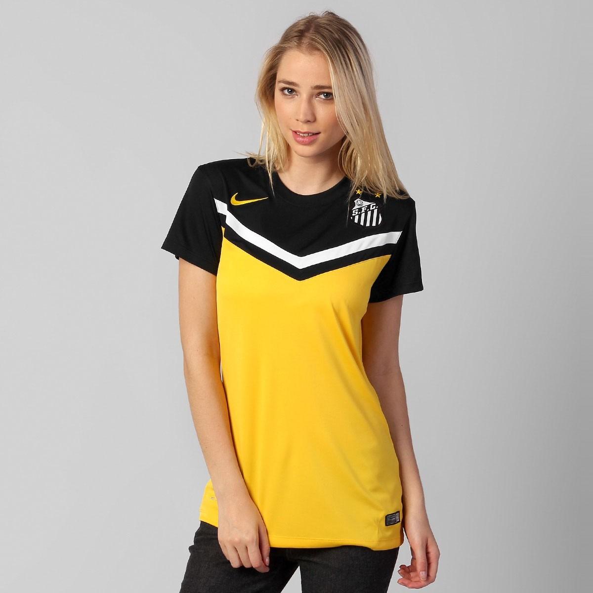 d382a67cb0 Camisa Feminina Nike Santos Iii 2014 S nº Nova Original C nf - R  99 ...